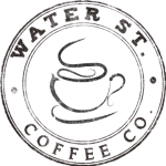 Water Street Coffee Logo, Espresso and Hot Coffee