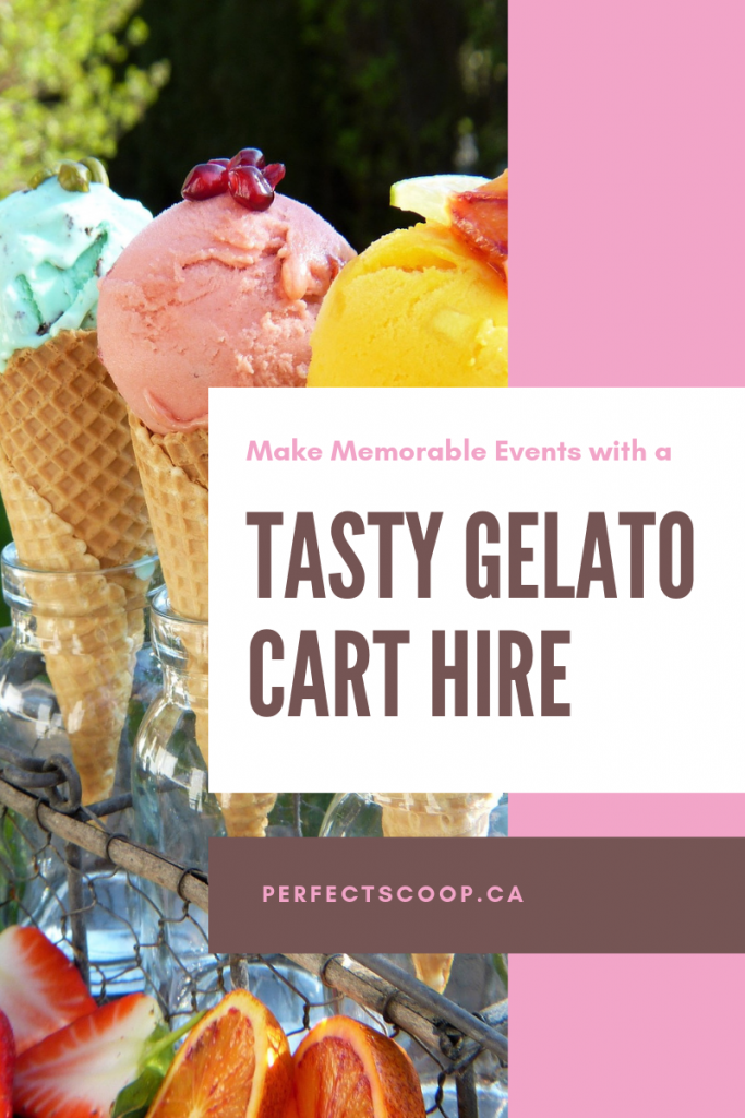 Make your event memorable with a gelato cart