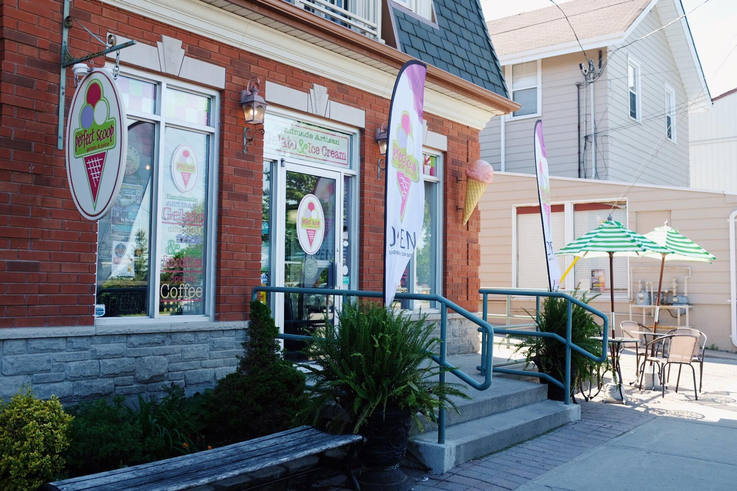 Perfect Scoop gelataria is located in Port Perry, Ontario